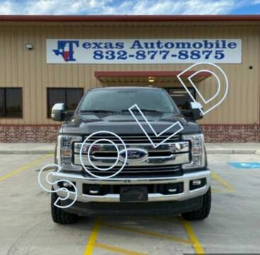 2018 Ford F-250 Super Duty for sale at TEXAS AUTOMOBILE in Houston TX