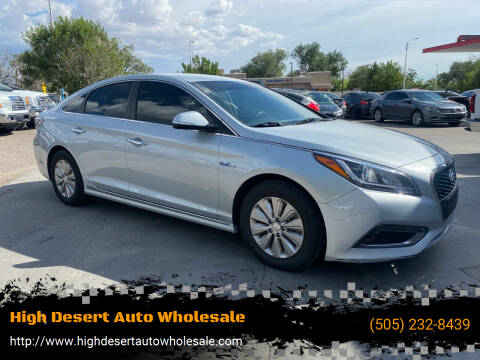 2017 Hyundai Sonata Hybrid for sale at High Desert Auto Wholesale in Albuquerque NM