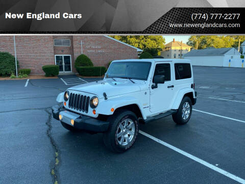 2012 Jeep Wrangler for sale at New England Cars in Attleboro MA