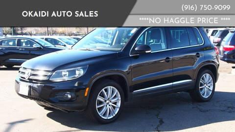 2012 Volkswagen Tiguan for sale at Okaidi Auto Sales in Sacramento CA