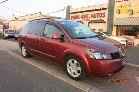 2005 Nissan Quest for sale at PARK AVENUE AUTOS in Collingswood NJ