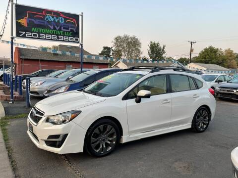 2015 Subaru Impreza for sale at AWD Denver Automotive LLC in Englewood CO