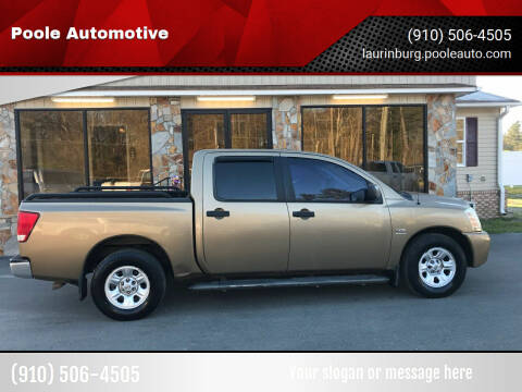 2004 Nissan Titan for sale at Poole Automotive in Laurinburg NC