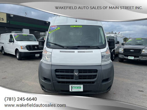 2014 RAM ProMaster Cargo for sale at Wakefield Auto Sales of Main Street Inc. in Wakefield MA