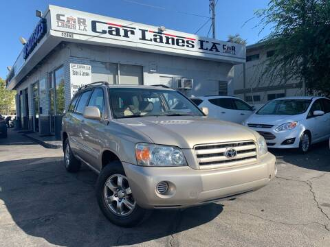 2004 Toyota Highlander for sale at Car Lanes LA in Valley Village CA