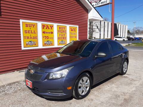 2013 Chevrolet Cruze for sale at Mack's Autoworld in Toledo OH