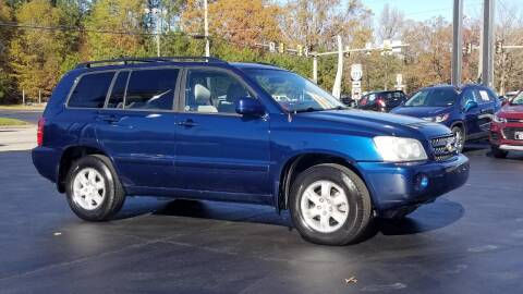2002 Toyota Highlander for sale at Whitmore Chevrolet in West Point VA