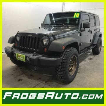 2010 Jeep Wrangler Unlimited for sale at Frogs Auto Sales in Clinton IA