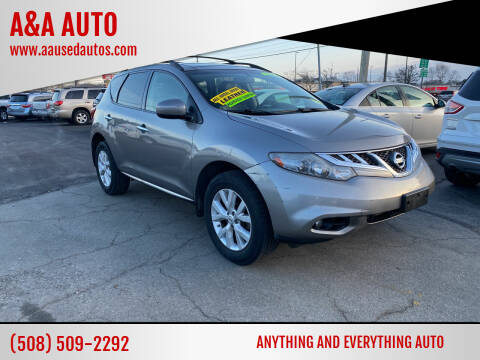 2012 Nissan Murano for sale at A&A AUTO in Fairhaven MA