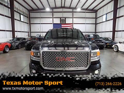 2015 GMC Sierra 2500HD for sale at Texas Motor Sport in Houston TX