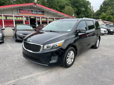 2015 Kia Sedona for sale at Mira Auto Sales in Raleigh NC