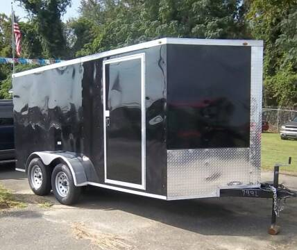 2021 NEW Deep South 7' x 14'  V Nose  Ramp Door for sale at Sanders Motor Company in Goldsboro NC