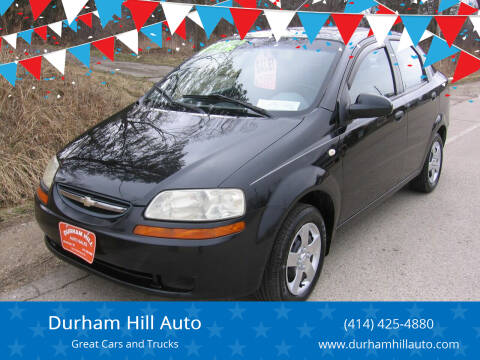 2005 Chevrolet Aveo for sale at Durham Hill Auto in Muskego WI