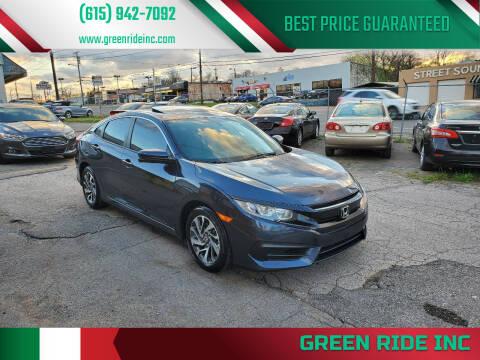 2016 Honda Civic for sale at Green Ride Inc in Nashville TN