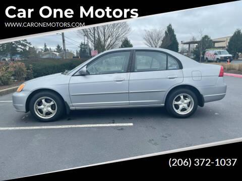 2002 Honda Civic for sale at Car One Motors in Seattle WA