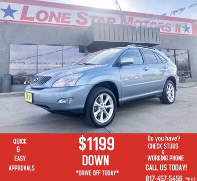 2009 Lexus RX 350 for sale at LONE STAR MOTORS II in Fort Worth TX
