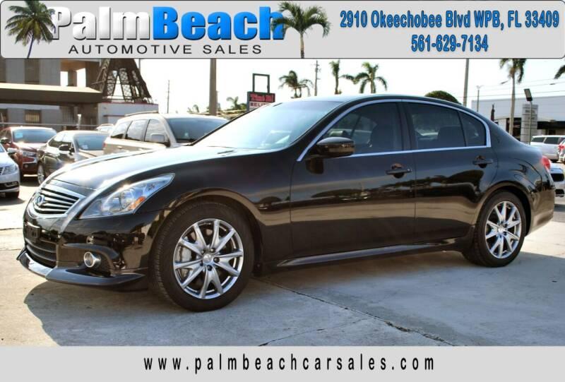 2012 Infiniti G37 Sedan for sale at Palm Beach Automotive Sales in West Palm Beach FL