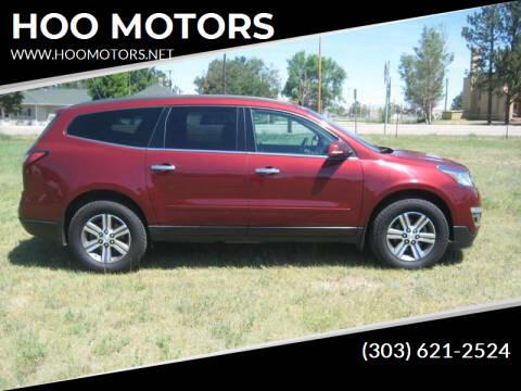 2016 Chevrolet Traverse for sale at HOO MOTORS in Kiowa CO
