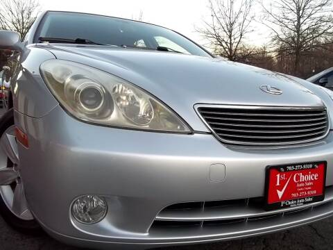 2006 Lexus ES 330 for sale at 1st Choice Auto Sales in Fairfax VA