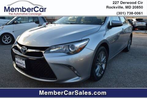 2015 Toyota Camry for sale at MemberCar in Rockville MD