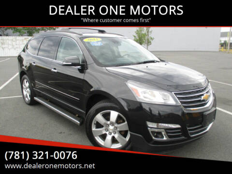2015 Chevrolet Traverse for sale at DEALER ONE MOTORS in Malden MA