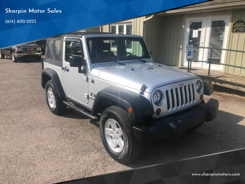 2009 Jeep Wrangler for sale at Sharpin Motor Sales in Columbus OH