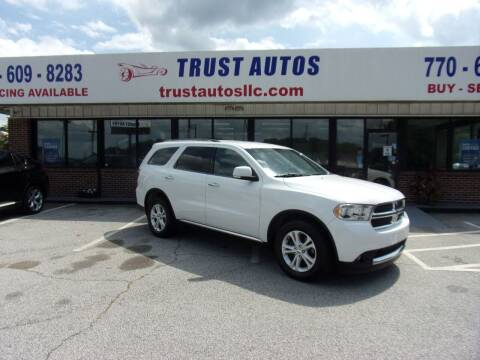 2013 Dodge Durango for sale at Trust Autos, LLC in Decatur GA
