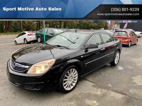 2007 Saturn Aura for sale at Sport Motive Auto Sales in Seattle WA
