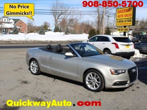 2013 Audi A5 for sale at Quickway Auto Sales in Hackettstown NJ