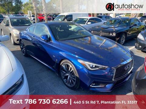 2018 Infiniti Q60 for sale at AUTOSHOW SALES & SERVICE in Plantation FL