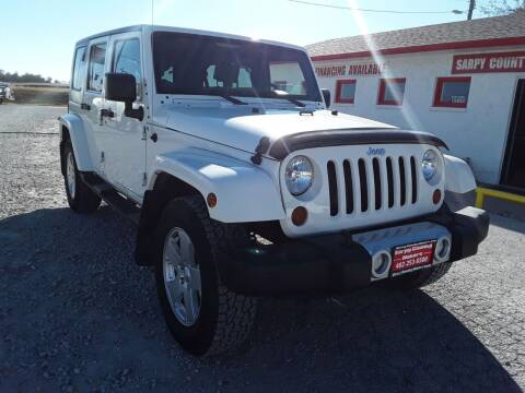 2010 Jeep Wrangler Unlimited for sale at Sarpy County Motors in Springfield NE
