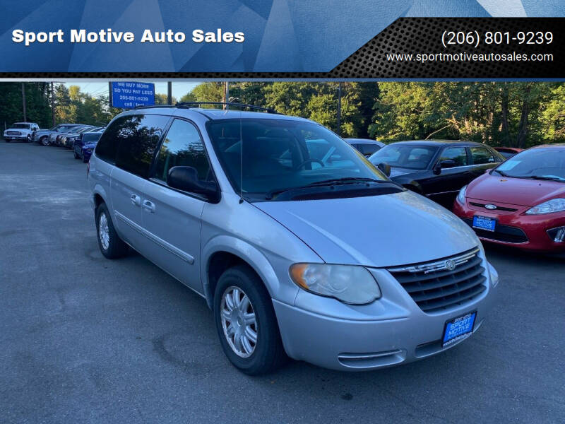 2007 Chrysler Town and Country for sale at Sport Motive Auto Sales in Seattle WA