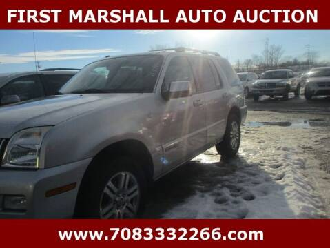 2010 Mercury Mountaineer for sale at First Marshall Auto Auction in Harvey IL