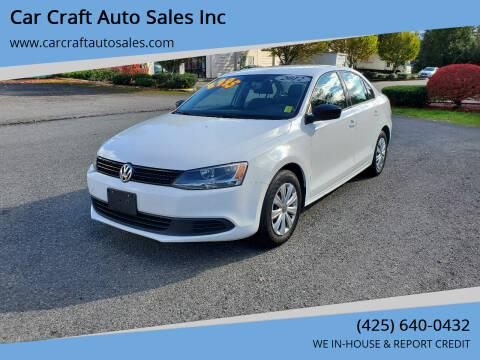 2012 Volkswagen Jetta for sale at Car Craft Auto Sales Inc in Lynnwood WA