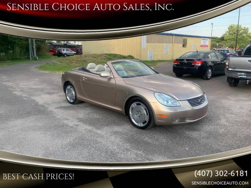 2002 Lexus SC 430 for sale at Sensible Choice Auto Sales, Inc. in Longwood FL