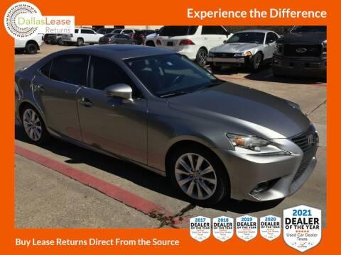 2014 Lexus IS 250 for sale at Dallas Auto Finance in Dallas TX