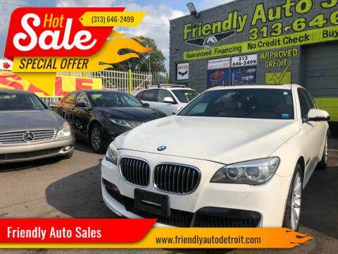 2014 BMW 7 Series for sale at Friendly Auto Sales in Detroit MI