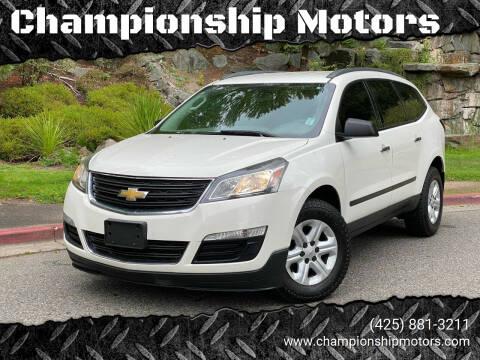 2015 Chevrolet Traverse for sale at Championship Motors in Redmond WA