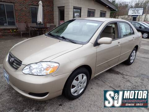 2007 Toyota Corolla for sale at S & J Motor Co Inc. in Merrimack NH