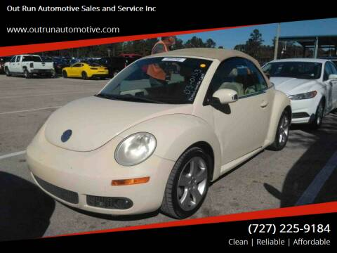2006 Volkswagen New Beetle Convertible for sale at Out Run Automotive Sales and Service Inc in Tampa FL