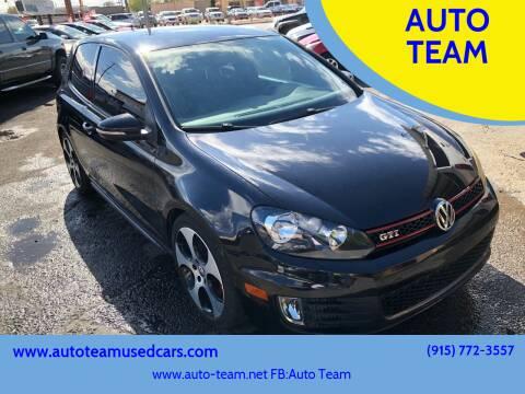 2010 Volkswagen GTI for sale at AUTO TEAM in El Paso TX