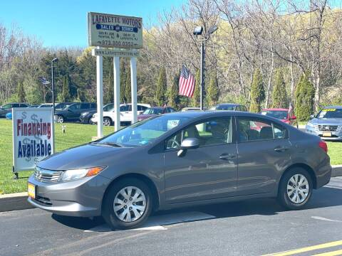 2012 Honda Civic for sale at Lafayette Motors 2 in Andover NJ