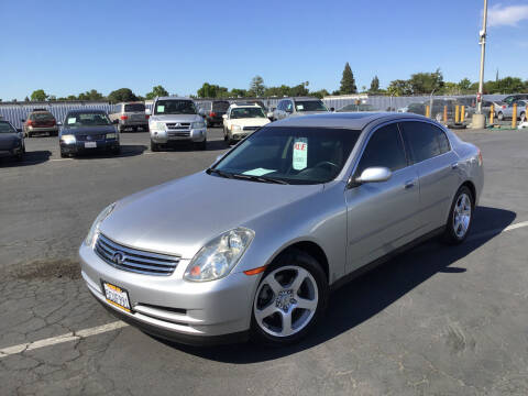 2003 Infiniti G35 for sale at My Three Sons Auto Sales in Sacramento CA