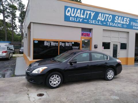 2012 Nissan Altima for sale at QUALITY AUTO SALES OF FLORIDA in New Port Richey FL