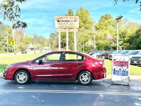 2016 Subaru Impreza for sale at Lafayette Motors 2 in Andover NJ
