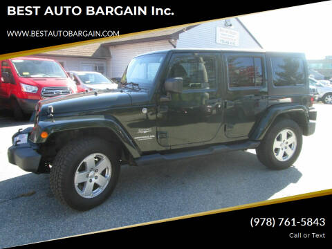 2011 Jeep Wrangler Unlimited for sale at BEST AUTO BARGAIN inc. in Lowell MA