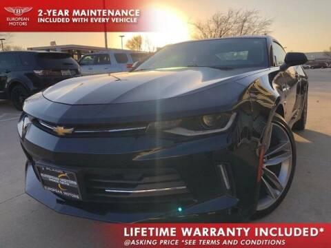 2017 Chevrolet Camaro for sale at European Motors Inc in Plano TX