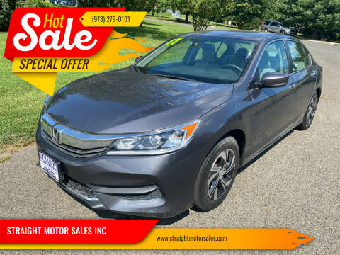 2017 Honda Accord for sale at STRAIGHT MOTOR SALES INC in Paterson NJ
