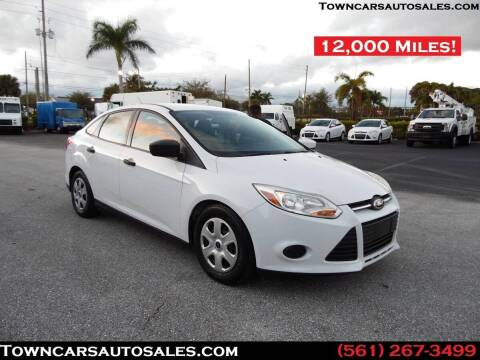 2012 Ford Focus for sale at Town Cars Auto Sales in West Palm Beach FL
