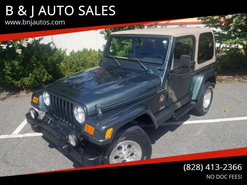 2002 Jeep Wrangler for sale at B & J AUTO SALES in Morganton NC